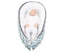 Hnízdo pro miminko LittleUp Happy Bubbles Blue