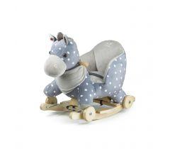 Houpací hračka Kinderkraft Horse Grey