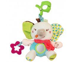 Hračka s melodií BabyMix Sloníček s šálečkem