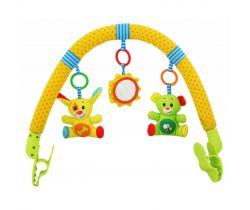 Hrazdička s hračkami BabyMix  Pejsek a kamarád