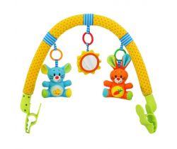 Hrazdička s hračkami BabyMix  Zajíček a kamarád