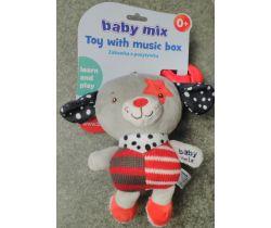 Hudební hračka BabyMix Red Dog With Star