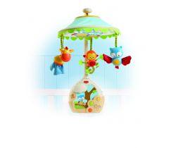Hudební kolotoč s lampičkou a projekcí na strop Tiny Love