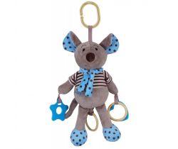 Hudební plyšová hračka Baby Mix Myšička modrá