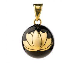 Hudební přívěsek Babylonia Bola Black with gold lotus