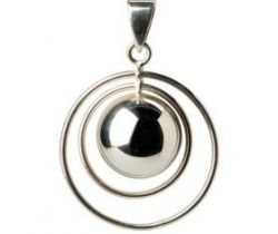 Hudební přívěsek Babylonia Bola Double Ring Silver