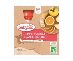 Jablko, pomeranč, banán 4x90g Babybio