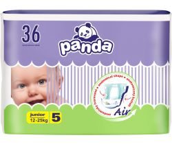Pleny Bella Baby Panda Junior 5 (12-25 kg) 36 ks