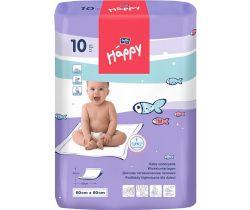 Jednorázové přebalovací podložky 60x60 cm Bella Baby Happy 10 ks