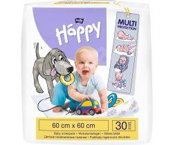 Jednorázové přebalovací podložky 60x60 cm Bella Baby Happy 30 ks