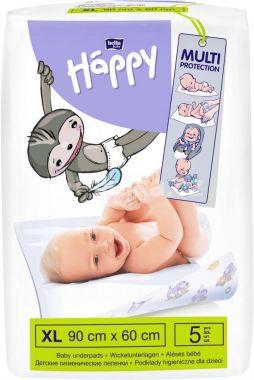 Jednorázové přebalovací podložky 90x60 cm Bella Baby Happy 5 ks