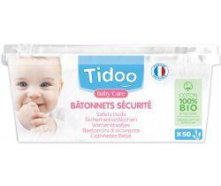 Jemné bavlněné čistící tyčinky Tidoo Bio/Organic (50ks)