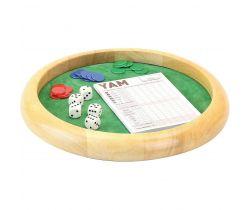 Dřevěná kostková hra Yam Jeujura