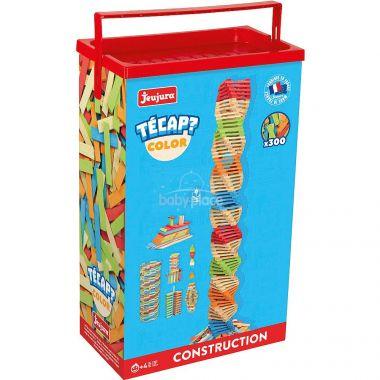 Dřevěná stavebnice Jeujura TECAP 300 dílků Color