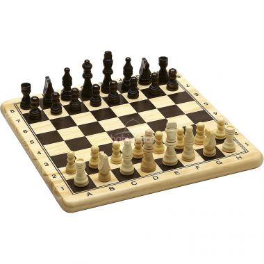 Dřevěné šachy a dáma Jeujura