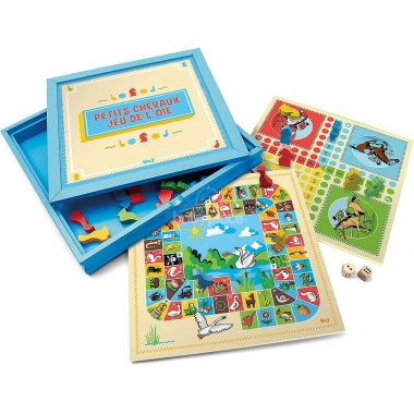 Hry v dřevěném boxu 2v1 Jeujura