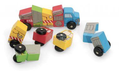 Zábavná magnetická autíčka Jeujura