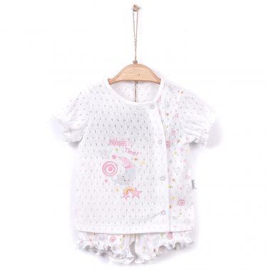 Kabátek+kraťásky Kitikate Dreams Summer Girl D Model White-Pink