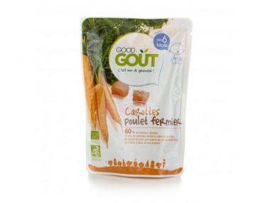Kapsička mrkev s farmářským kuřátkem 190 g Good Gout Bio