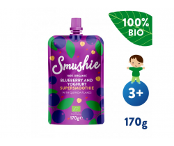 Kapsička Ovocné smoothie s borůvkami, jogurtem a quinoou (170 g) Salvest Smushie BIO