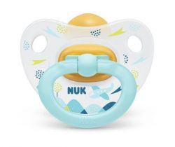 Kaučukové šidítko Nuk Happy Kids Plane Blue