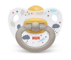 Kaučukové šidítko Nuk Happy Kids Rain Brown