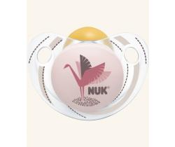 Kaučukové šidítko Nuk Trendline Adore Pink