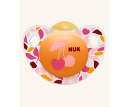 Kaučukové šidítko Nuk Trendline Adore Třešnička