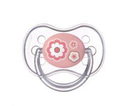 Kaučukový dudlík třešinka Canpol Newborn Baby Pink