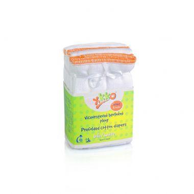 Kikko Infant skládané bavlněné pleny-bílé 6 ks