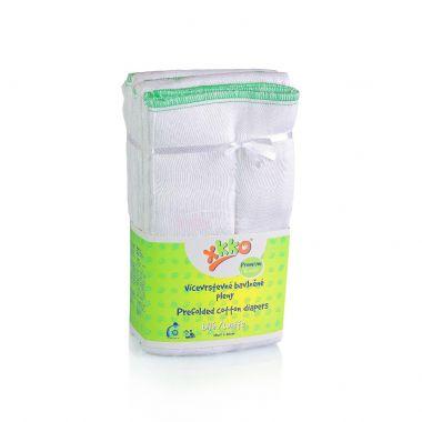 Kikko Premium skládané bavlněné pleny-bílé 6 ks