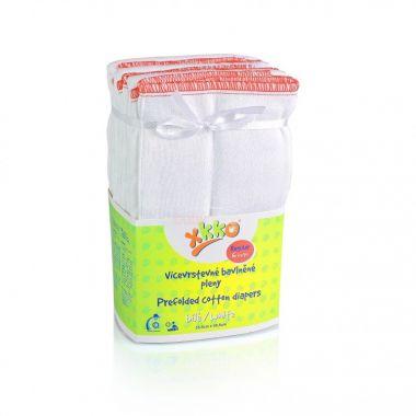 Kikko Regular Skládané bavlněné pleny-bílé 6ks