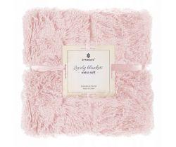 Oboustranná vlněná deka 160x200 cm Springos Pink