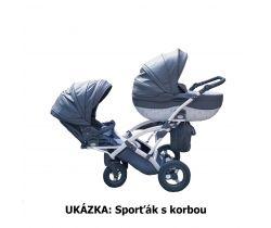Kočárek pro dvojčata Junama Duo Pendolino Fashion Pro
