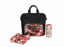 Kočárek Set 2v1 Cybex Priam Spring Blossom 2020 Podvozek Rosegold + Seat Pack + Hluboká korbička Lux + Taška