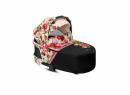 Kočárek Set 3v1 Cybex Priam Spring Blossom 2020 Podvozek Rosegold + Seat Pack + Hluboká korbička Lux + Cybex Cloud Z i-Size + Taška