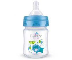 Kojenecká láhev 120 ml modrá Bayby BFB 6101