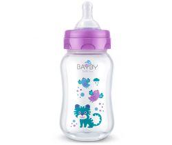 Kojenecká láhev 250 ml fialová Bayby BFB 6103