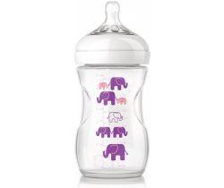 Kojenecká láhev 260 ml Avent Natural Sloníci