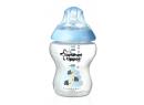 Kojenecká láhev s obrázky Tomme Tippee C2N, 2ks 260ml, 0+m modré včelky
