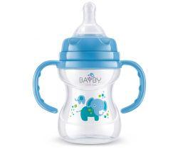 Kojenecká láhev s úchyty 150 ml modrá Bayby BFB 6104