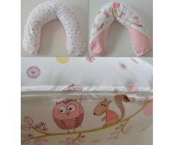 Kojící polštář 170 cm LittleUp Pink Forest