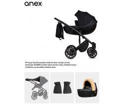 Kombinovaný kočárek Anex m/type + Chránič před sluncem Anex, Rukávník Anex a Kožešina na boudičku kočárku Anex ZDARMA