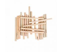 Krátká bambusová brčka Bamboolik 20ks