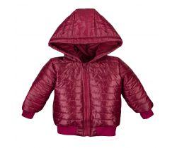Bunda na zip s kapucí Eevi Simply Comfy Red