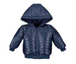 Bunda na zip s kapucí Eevi Simply Comfy Navy Blue