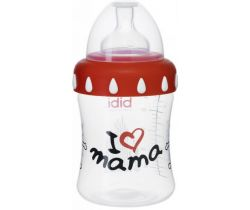 Láhev s širokým hrdlem 250 ml Bibi I love mama