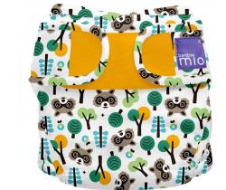 Látková plenka integrovaná v kalhotkách Bambino Mio MioSolo Raccoon Retreat