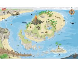 Hrací koberec 80x120 cm Le Toy Van PLAYMAT Pirátský ostrov