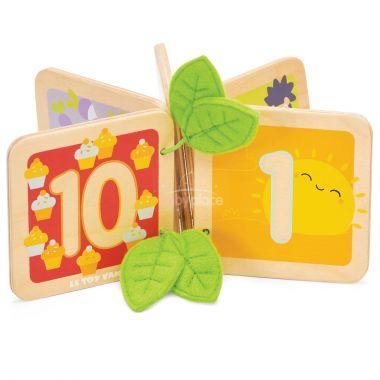 Dřevěná knížka počítání Le Toy Van Petilou